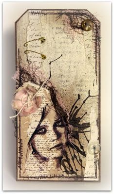 I& going to trace family members& and friends& face on tags and do . I& going to trace family members& and friends& face on tags and do this for each of them. Atc Cards, Card Tags, Gift Tags, Scrapbooking Steampunk, Karten Diy, Handmade Tags, Mix Media, Paper Tags, Vintage Tags