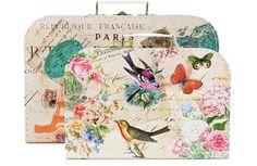 Cajas en forma de maleta de Zara Home, para guardar todo lo que quieras.