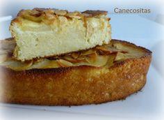 Pastel o tarta de manzana y almendras con thermomix