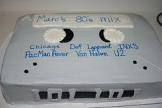 Cassette cake I made for our friend's 40th birthday