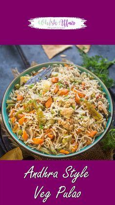 Easy Samosa Recipes, Healthy Indian Recipes, Easy Rice Recipes, Spicy Recipes, Curry Recipes, Cooking Recipes, Jain Recipes, Paneer Recipes, Vegetable Pulao Recipe