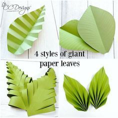 All the pretty leaf styles I teach in the new Ebook 'The Art of Giant Paper Flowers!' Link in bio.