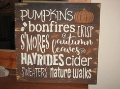 Pumpkins bonefires......handmade wall by hilltopprims on Etsy