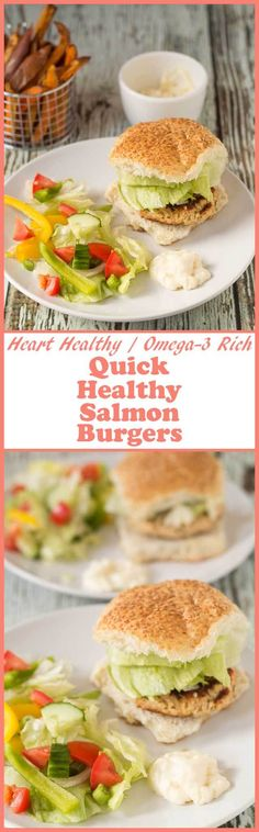 Quick healthy salmon burgers are the perfect easy dinner option. It takes just 40 minutes to prepare and cook these delicious heart healthy homemade patties. via @neilhealthymeal