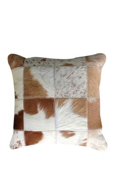 Cowhide rugs and pillows on sale at Hautelook today