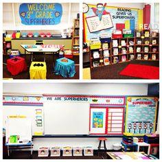 Superhero themed classroom