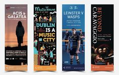 Dublin Lamppost Banners - March 2017  Opera Theatre Company Ireland Musictown Leinster Rugby National Gallery of Ireland