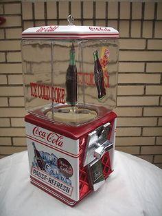 COCA-COLA COKE GUMBALL CANDY PEANUT VENDING MACHINE SIGN