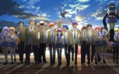 man just watched angel beats! i knew it was going to be sad but i didnt expect it to completely rip my heart out. oh such a good show though. totally worth staying up til the middle of the night to finish