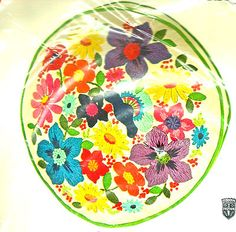 "Vintage Colorful Bucilla Floral ""Spring Garden"" Crewel Embroidery Kit | eBay"