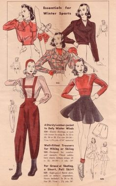 Taken from a 1940s Hollywood Patterns Book on Casey Brown Designs.com - click to link