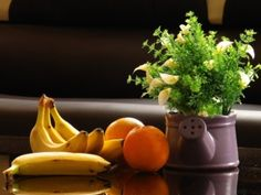 Fruity Still Life - Calla, Arum Lily, Orange, Lily, Flower, Banana, Bouquet, Fruit, Citrus, Photography