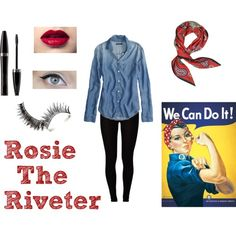 halloween costume 1 rosie the riveter - Rosie The Riveter Halloween Costume