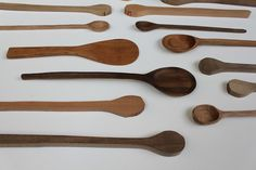 "We asked graphic designer Chantelle Delichte to guest blog a tutorial of her gorgeous hand-carved wooden spoons. Chantal has done ""everything from felting, weaving, sewing, woodworking, leaded-glas…"