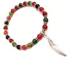 Βραχιόλι - mj41 Βραχιόλι απο κόκκινη και πράσινη ΤΟΥΡΜΑΛΙΝΗ! Beaded Necklace, Beaded Bracelets, Men's Style, Mens Fashion, Jewelry, Beaded Collar, Male Style, Moda Masculina, Manish Style