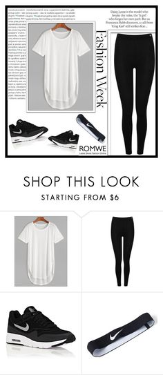 """""""#ROMWE"""" by ermina996 ❤ liked on Polyvore featuring Heat Holders, ASOS, NIKE and Oris"""