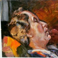 Harold Gilman,oil on board, Portrait of artists sister Irene Battiscombe signed lower right H.Gilman