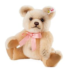 Delightful Harrods Teddy Bear Plush Beige Tan Cream Gold Embroidered Foot Soft Toy 9