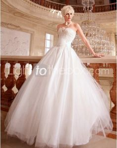 Just as pregnant brides should put on maternity wedding dresses, every bride also ought to pick out their own special and fitted wedding dresses. Here is the Sweetheart Floor-length A-line Wedding Dresses With Appliques Beading right for you. Strapless gown with sweetheart pleated asymmetrical bodice,