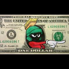 27 Beautifully Defaced One Dollar Bills