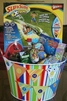 Summer Fun Bucket for last day of school to kick off the summer!