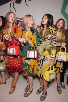 Backstage  Backstage at Burberry Prorsum RTW Spring 2015 [Photo by Giovanni Giannoni]