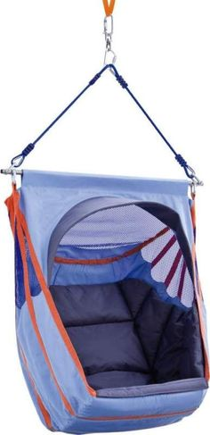 Really comfortable swing seat with removable padding: perfect for rocking, relaxing and taking time out.