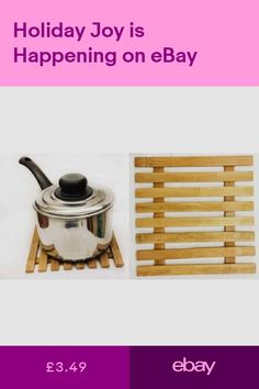 Trivets Home Furniture & DIY #ebay Dining Table In Kitchen, Pot Holders, Home Furniture, Tea Pots, Bamboo, Wood, Diy, Hot Pads, Home Goods Furniture