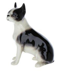 Hagen Renaker Dog Bulldog White Ceramic Figurine