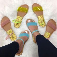 Neon PVC Slip-On Women's Slippers Slipper shoes Women Shoes for work Cute Sandals, Sport Sandals, Cute Shoes, Women's Shoes Sandals, Wedge Shoes, Shoe Boots, Strappy Shoes, Summer Sandals, Flat Sandals