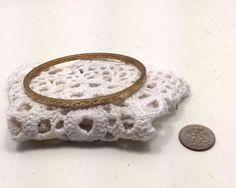 Rare Vintage Estate Repousse Floral Gold Tone Bangle Bracelet Mid Century Modern  | eBay
