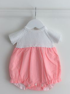 8ffcf6c98333 Wedoble pink pinstripe romper   wedoble   Portuguese baby clothes   Spanish  baby clothes   baby
