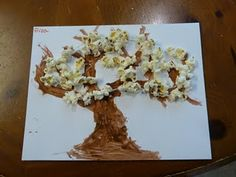 Popcorn Tree for Spring Time Fun