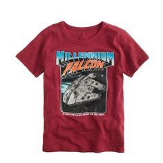 Star Wars™ for crewcuts glow-in-the-dark Millennium Falcon tee : graphic tees | J.Crew