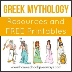 Greek Mythology Resources and FREE Printables