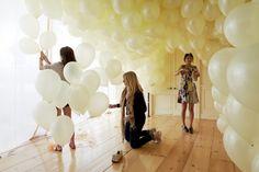 Ballonnen, geweldig als decoratie! Wat dacht je van een ballonnenwand op je bruiloft?!