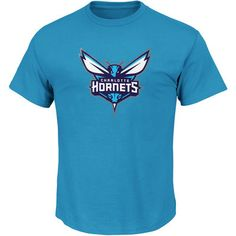Men's Charlotte Hornets Majestic Teal Big & Tall Primary Logo T-Shirt