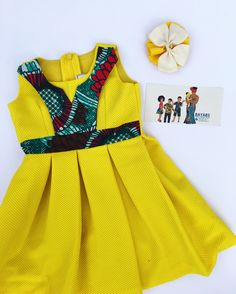 Baby African Clothes, African Dresses For Kids, African Print Dresses, African Wear, African Attire, African Fashion Dresses, African Children, Ankara Fashion, African Style
