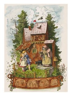 lovely illustration, hansel and gretel