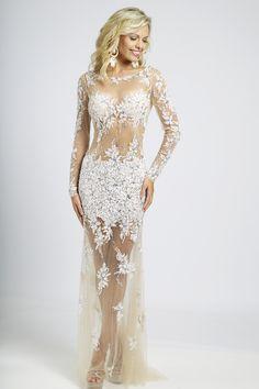 Sheer Beaded Jovani Dress