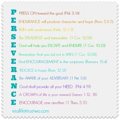 Persevere with Joy . . .  a word for mamas!