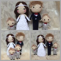 Crocheted wedding Crocheted people Crocheted family Crocheted dolls