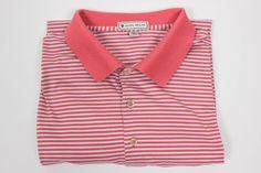 Peter Millar Mens XL Stripe Polo Golf Shirt Cotton #PeterMillar #PoloRugby