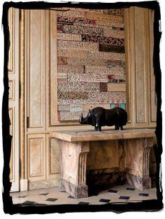Art--Jean Cortot; rhino sculpture--Lalanne