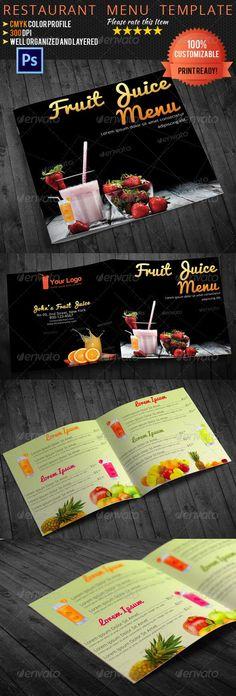 Bi-Fold Square Food Menu Template Food menu template, Menu - kids menu templates