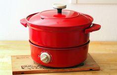 あのBRUNOに新顔登場!煮る、焼く、蒸す、揚げる。1台4役の「グリルポット」 - ippin(イッピン)