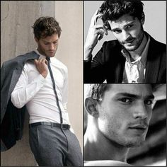 """Jamie Dornan will play Christian Grey in the movie Fifty shades of Grey.  """"Hmm… he's soft and hard at once, like steel encased in velvet, and surprisingly tasty…"""" //Ana"""