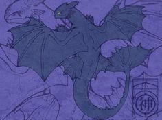 Toothless by ~erkenbrant on deviantART
