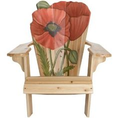 flower painted adirondak chairs |
