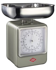 A decorative eye-catcher that combines two features: The Wesco Retro Kitchen Scale with Clock is an antique design that combines the features of a classic clock with a kitchen scale. Simply turn the kitchen scale around to display the Cool Kitchen Gadgets, Cool Kitchens, Kitchen Tools, Kitchen Sink, Küchen Design, Retro Design, Interior Design, John Lewis, Yellow Kitchen Accessories